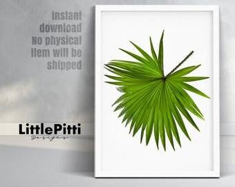 Tropical print, tropical wall art, palm leaf print, botanical print, scandinavian print, palm leaf prints, palm leaves, tropical plant print