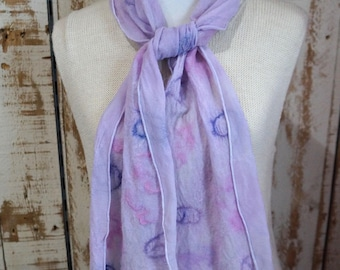 Nuno Wet Felted Alpaca & Silk Scarves