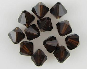 12 8mm Swarovski crystal bicone 5301 Mocca beads 638