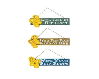Flip flop sign, flip flop signs, flip flops, floral flip flops, wreath sign, wreath flip flops, Sandal sign, wreath Sandals, Sandal signs