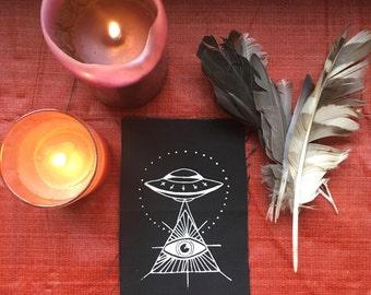 Alien illuminati patch