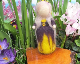 Needle Felted Waldorf Inspired Maiden 'Iris'