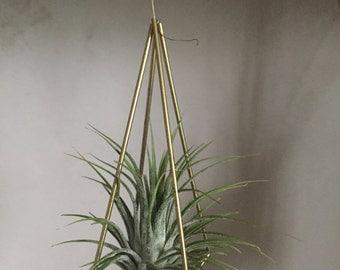 Himmeli Planter Blumenampel Geometrisch Messing Brass