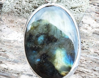 Labradorite silver sterling jewels pendant HOMEMADE