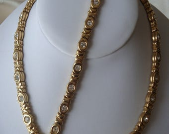 Signed Nina Ricci Demi Parure - Necklace and Bracelet Set