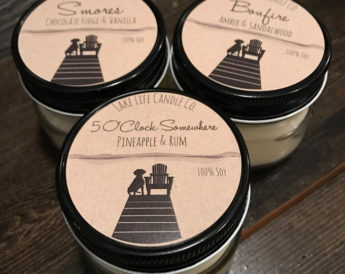 Summer Sampler Handmade Soy Candles by Lake Life Candle Co. Made in WI