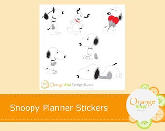 Snoopy Planner Stickers, Snoopy Stickers, Erin Condren Life Planner