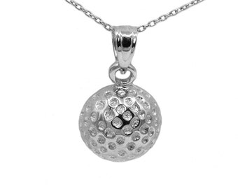 925 Sterling Silver Golf Ball Necklace