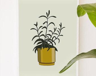 Plant Series 3, plant, green, illustration, digital, art print