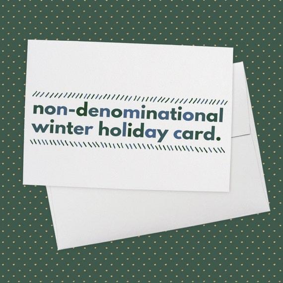 Non-Denominational Winter Holiday Card Greeting Card