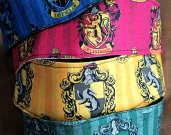 Hogwarts House Headband - Harry Potter Hair Band - Books - Nerd - Geek - OOAK - Custom Made