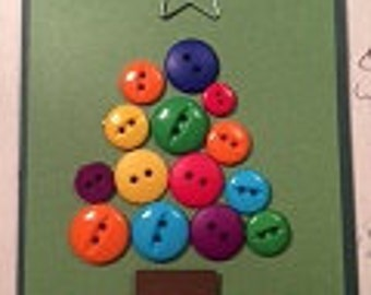 Button Up Christmas Tree Card