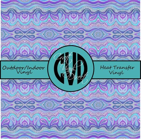Beautiful Vibrant Patterned Craft Vinyl and Heat Transfer Vinyl in Pattern 454