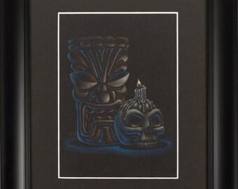 Tiki by Candlelight Original Illustration