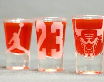 Bulls/Jordan 3pc shot glass set