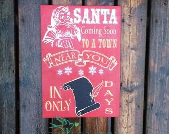Santa Coming Soon Countdown SVG, PNG, JPEG