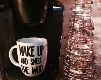 Wake Up And Smell athe Wod custom crossfit coffee mug