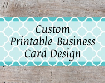 Custom Business Card, Personalized Business Card, Digital Business Card, Template Business Card, Printable Business Card, Digital Card