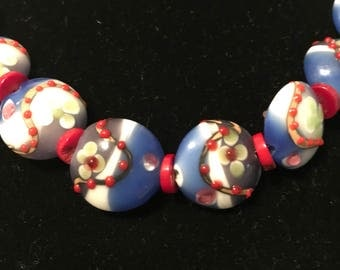Red White and Blue jewelry set