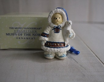 Muffy Vanderbear 1994 Muffy of the North Ornament, Muffy Vanderbear Collection, Christmas Ornaments, Christmas Deco, Collectible Ornaments