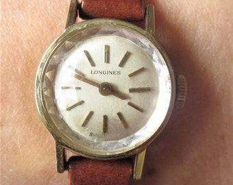 Longines Mechanical 410 Swiss movt Watch Ladies 1970s Gold Plated 40 microns Professionally Serviced Warranty