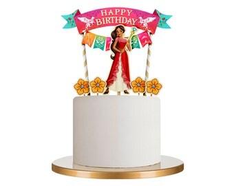 Elena of Avalor cake topper, Elena of Avalor, Elena of Avalor party, Elena of Avalor birthday party, Elena of Avalor party decor