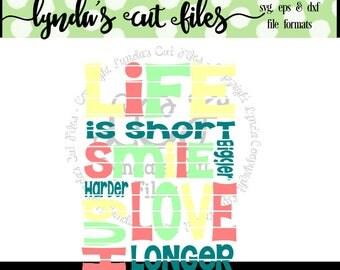 Life is Short SVG/DXF/EPS file