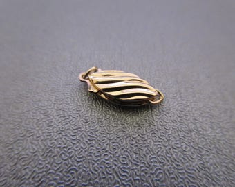 14K Gold Filled Brushed Fish Hook Clasp 1pc