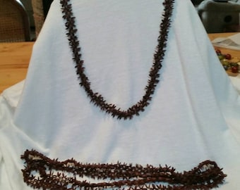 2 long seed bead necklaces