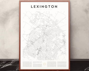 Lexington Map Print