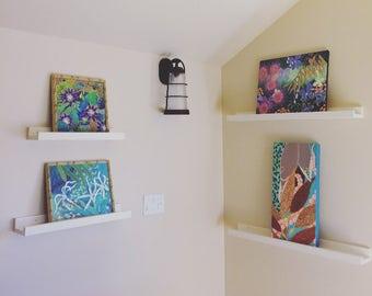 Nursery Shelf, Picture Book Shelf, Floating Shelf, Art Shelf, Picture Shelf, Display Ledge, Gallery Shelf, Rustic Wooden Shelf