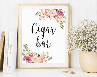 Cigar Bar Sign Decor Wedding Ideas Floral