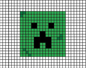 Graph Pattern, Creeper, Minecraft