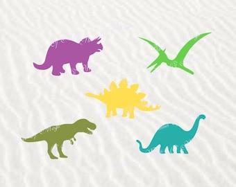 Dinosaur SVG File, Dinosaur Cutting File, Dinosaurs DXF, Dinosaur Silhouette, Digital File, Files for Cricut