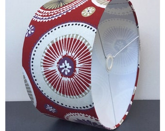 Retro Red Circles Lampshade /  Lightshade / Modern LightShade Various Sizes US FITTING AVAILABLE