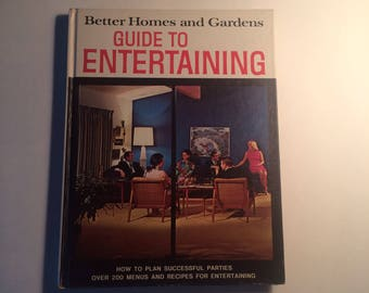 """FREE SHIPPING - 1969 Better Homes and Gardens """"Guide to Entertaining"""" Book"""