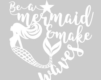 Downloadable Papercut Template 'Be a MERMAID' Printable PDF or JPEG template