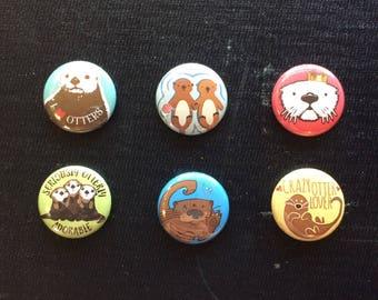 Otter Magnets: Set of 6