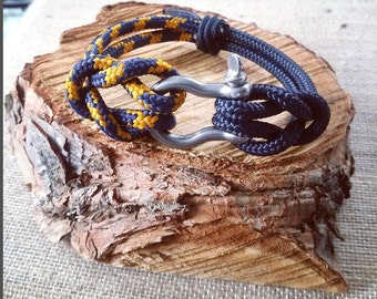 Nautical bracelet-nautical bracelet--Men's bracelet--Mens wristband
