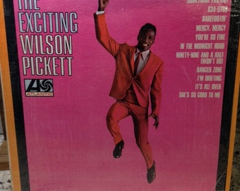 "Wilson Pickett- ""The Exciting World of WIlson Pickett"", 33 rpm 12"" R & B Album, ""In the Midnight Hour"", ""Land of 1000 Dances"", Motown Music"