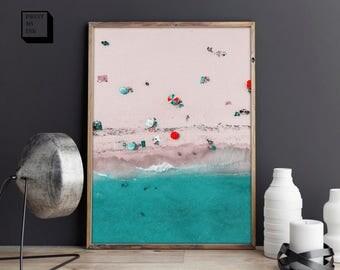 aerial beach, aerial photography, beach photography, beach digital art, aerial beach photography, beach art print, beach printable, wall art