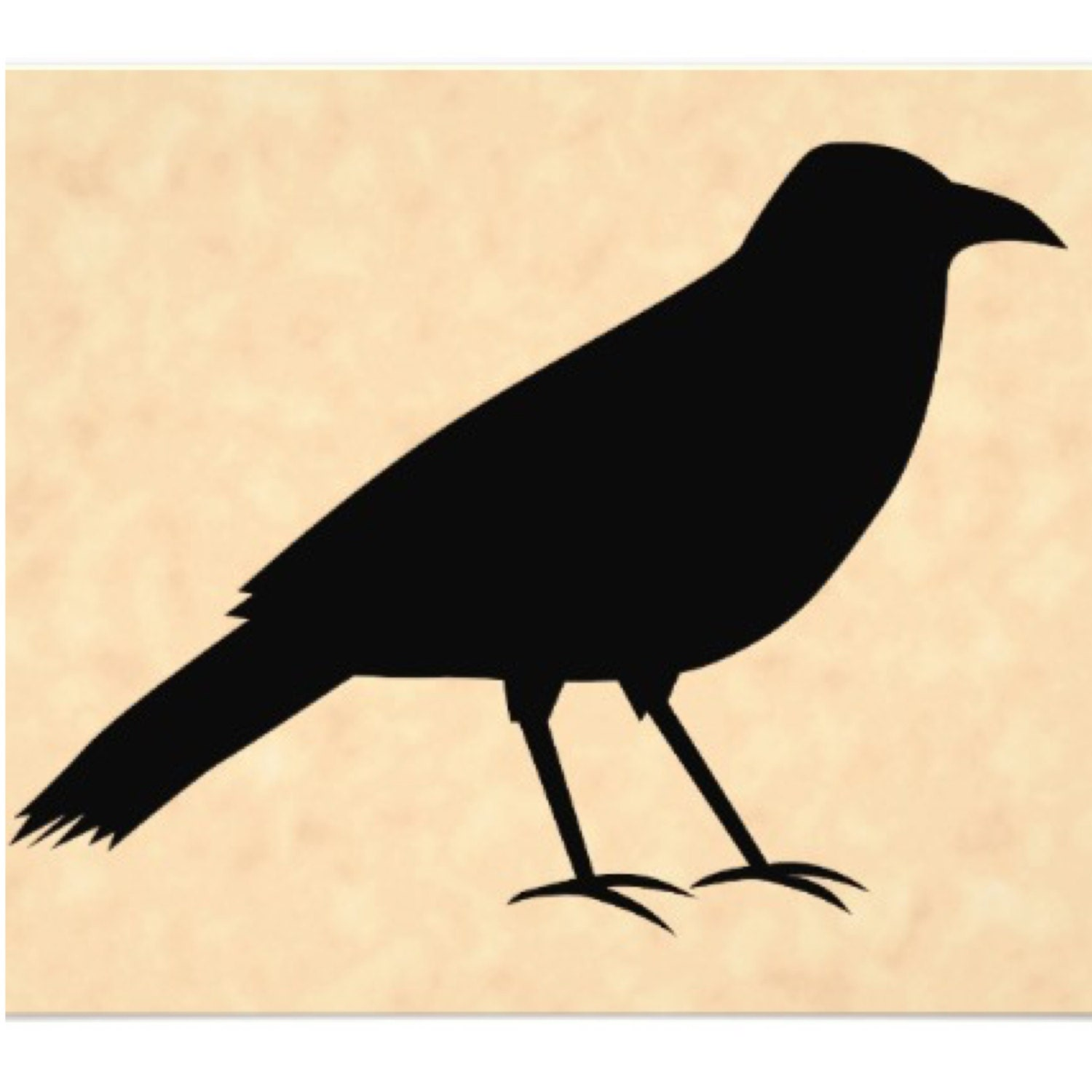 Pack Of 3 Primitive Crow Stencils Made From 4 Ply Mat