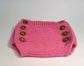 Hand Knitted diaper cover.
