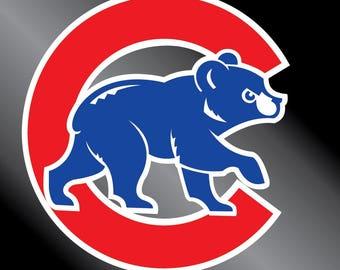 Chicago Cubs-Walking Cub Vinyl Decal Sticker