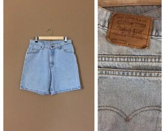 Waist 30 Levis High Waisted Shorts /Levis Shorts /Booty Shorts /Levi High Waisted Denim Shorts /Jean Shorts /Cutoff Shorts / Levis Cutoffs