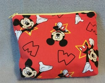 Mickey Mouse Zipper Pouch