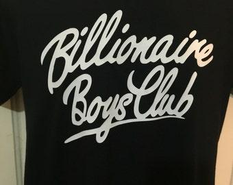 Billionaire Boys Club 2 BBC PHARRELL Men's Unisex Rap Hip Hop T shirt Black/ Custom colour S-XXL