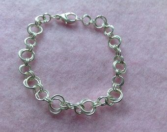 Sterling Silver Chain Maille Bracelet.