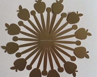 Apple center #2- DIY Paper Flowers
