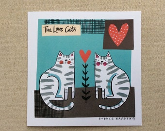 The Love Cats card